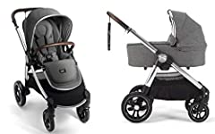 Reversible Seat - Your little can face your or explore the world with the easy-to-reverse seat. Newborn Ready - With the included carrycot, your little one can nap on the go Near-Flat Recline - The Ocarro's multiple recline positions include a near-f...