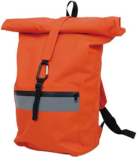 山善 防水リュック 幅28×奥行16×高さ55cm 一次避難用 止水ファスナー・テープ 防災バッグがそのまま入る オレンジ YBR-32