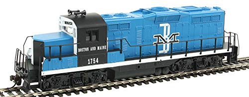 Walthers Trainline HO Scale Model EMD GP9M Standard DC Boston & Maine #1754 Train, Blue/Black/White, EMD GP9M Boston & Maine