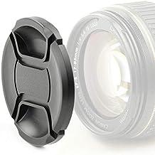 CELLONIC Tapa Objetivo Frontal Compatible con Canon EF 50mm 1:1.8 STM, EF-S 35mm 1:2.8 Macro IS STM, EF-M 15-45mm 1:3.5-6.3 IS STM (E-49 - Ø 49mm), Snap-On: Pellizco Central Cubierta Protectora