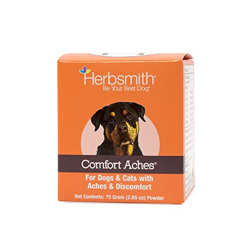 Herbsmith Comfort Aches – Herbal Pain Relief for Dogs + Cats – For Pet Aches + Pains – Anti-Inflammatory Supplement – 75g Powder