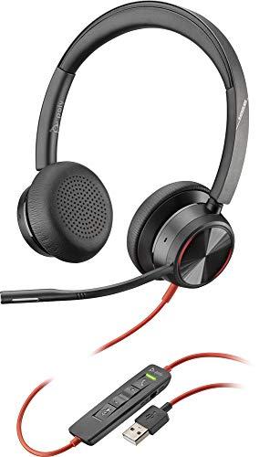 Poly Stereo-Headset 'Blackwire 8225-M' mit USB-A Anschluss, Active Noise Cancelling und flexiblem Mikrofonarm, Microsoft Teams, Schwarz