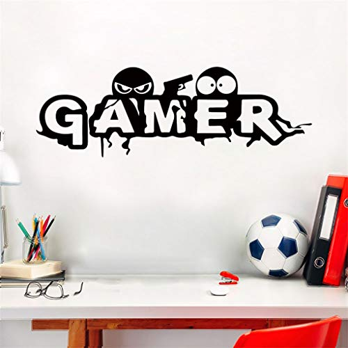 GADGETS WRAP Carved Gamer Wall Stickers Vinyl Mural Wallpaper for Kids Room Decoration Wall Stickers Decals Gaming Poster Decor Door Sticker