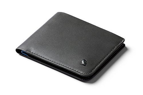 Bellroy Hide & Seek Wallet, Schlanke Faltbare Leder Brieftasche mit RFID-Schutz und Geheimfach (Max. 12 Karten, Bargeld, Münzfach) - Charcoal