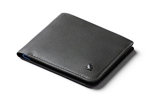 Bellroy Hide & Seek Wallet, Portafoglio sottile in pelle con doppia piega, protezione RFID disponibile, tasca nascosta (Max. 12 carte, contante, tasca per monete) - Charcoal