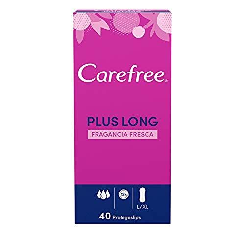 Carefree Salvaslip Plus Long Fragancia Fresca 40 unidades 200 g - Pack de 5