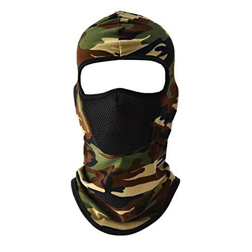 MeOkey - Pasamontañas Transpirable para Ciclismo Esquí Motocicleta Hombre Mujer Balaclava Máscara Completa para Protección Solar y Polvo, Camuflaje-B