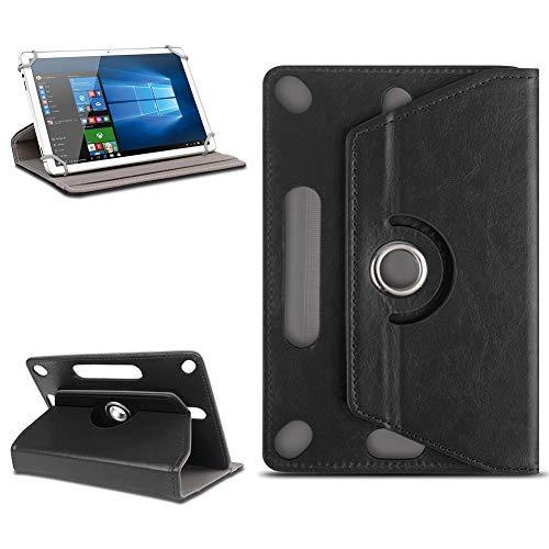 Odys Score Plus 3G Universal Tablet Tasche mit Ständerfunktion Hülle Tablet von NAmobile Schutztasche Schutzhülle Stand Tasche Etui Cover Hülle hochwertige Optik Farbauswahl 360° drehbar , Farben:Schwarz