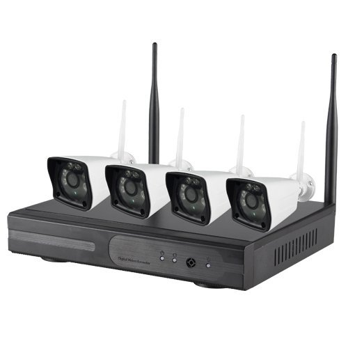 NIVIAN BK-KIT960WIFI set met 4 wifi-camera's met NVR 4CH, wit
