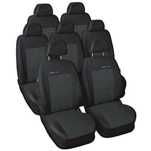 S Sharan Sitzbezüge nach Maß Autoplanen perfekte Passform Schonbezüge Sitzschoner Velour + Strickpolster ®Auto-schmuck (Sharan 7 p1)