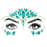 Bl194 Acrylic Rhinestones Tattoo Sticker Temporary Face Body Party Makeup Glitter G Decal Self Beauty Accessories