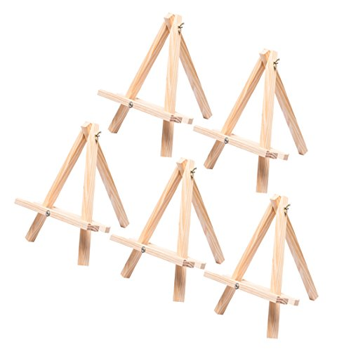 Tosnail 12' Tall Natural Wood Tripod Easel Photo Painting Display - 5 Pack