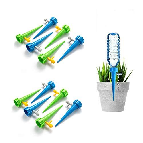 SHTR 12 Piezas de Riego por Goteo Automático Kit,Riego por Goteo Automático para Plantas,Ideal Dispositivo de Irrigación Automático en Vacaciones,Herramientas de Jardinería para Plantas