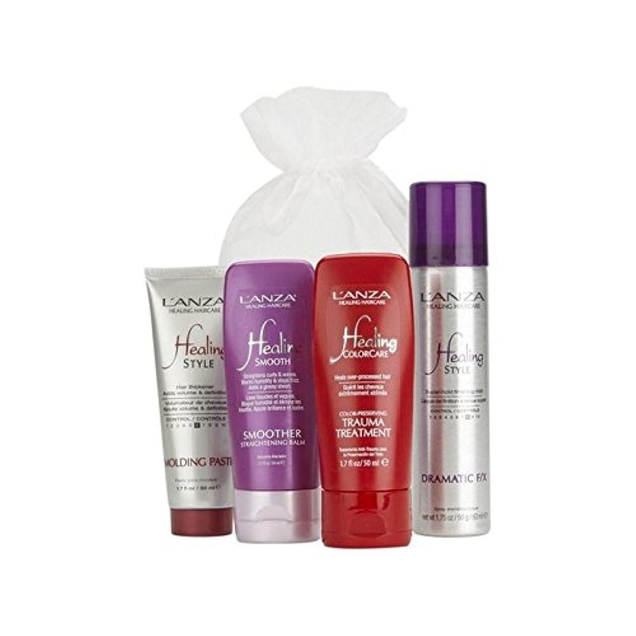 ヘビスカープ文字通りアンザ入門ヘアパック(内容は変更になる場合があります) x2 - L'Anza Introductory Hair Pack (Contents May Vary) (Pack of 2) [並行輸入品]