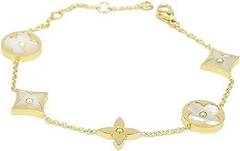Baoli 18k Gold White Shell Clover Women's Chain Bracelet