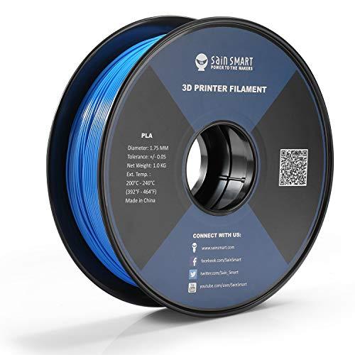 SainSmart PLA 3D Printer Filament,Toughness Enhanced PLA,Dimensional Accuracy +/- 0.03 mm, 1 KG Spool, 1.75 mm, Tech Blue