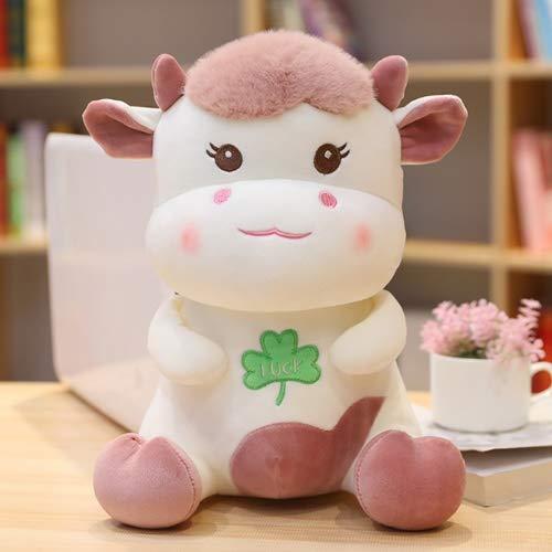WNSS9 Rechoncha de la sonrisa linda de la vaca de los regalos de juguetes de peluche de dibujos animados animado de peluche rellenos muñeca estatuilla precioso relleno suave Juguetes de simulación rea