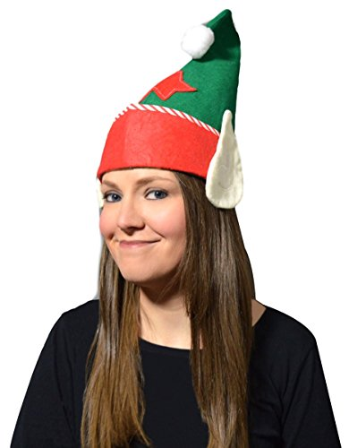 Felt Elf Hat with Ears 'Christmas'