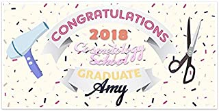 Hairstylist Cosmetology Graduation Banner Personalized Party Backdrop