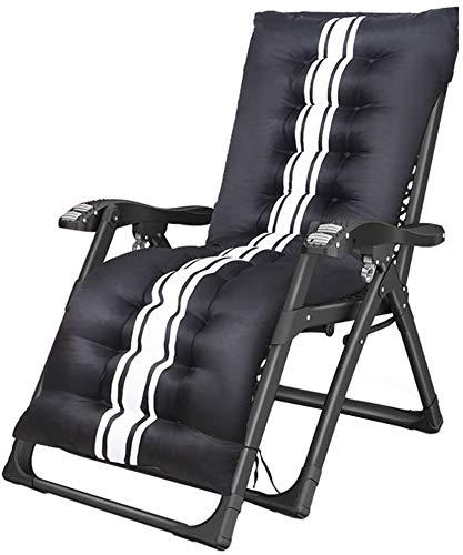 WANGCAI Las sillas reclinables Plegable al Aire Libre con el Amortiguador, for Trabajo Pesado Salón reclinables con Marco Cuadrado, 440lbs Plegable de Apoyo