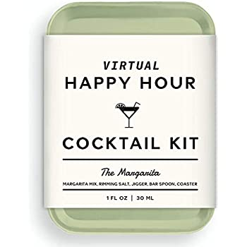 W&P The Virtual Happy Hour Cocktail Kit, Margarita | Make at Home Craft Cocktails | No Bartending Skills Required | Just Add Your Own Hard Stuff & Stir