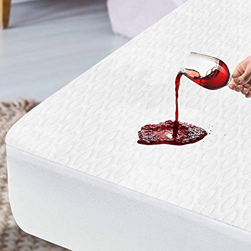 ENITYA King Size Mattress Protector Waterproof Cooling - Breathable, Noiseless Mattress Cover Pad, Safe for Adults & Kids