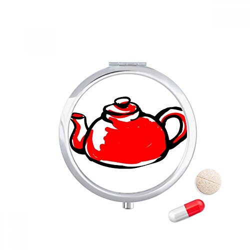 DIYthinker China Chinese theepot Traditioneel Patroon Reizen Pocket Pill case Medicine Drug Storage Box Dispenser Spiegel Gift