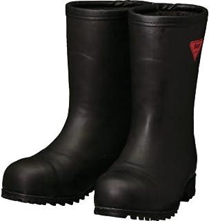 SHIBATA 防寒安全長靴セーフティベアー#1011白熊(ブラック)フード無し AC121-22.0 防寒長靴
