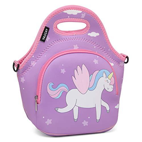 Lunch Bag for Girls,VASCHY Cute Neoprene Lightweight Lunch Box Bag for...