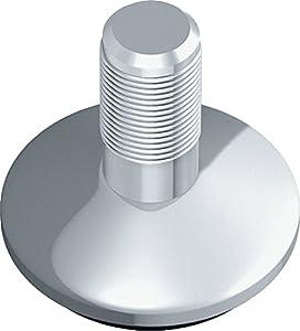 Element System 4 unidades de tornillo de regulación cromado Element System, para patas de mesa, patas de tubo de acero, patas de muebles, rosca M10, 11606-00001