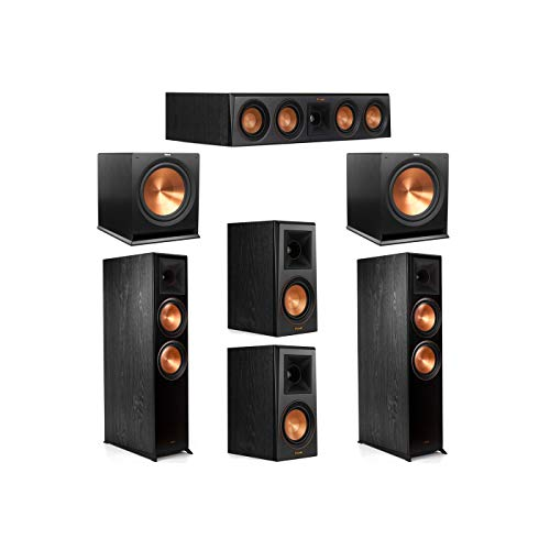 Lowest Prices! Klipsch 5.2 System with 2 RP-8000F Floorstanding Speakers, 1 Klipsch RP-404C Center S...
