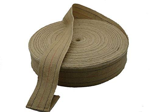 Cincha Yute para tapicería de estilo clásico, correas de 80 mm, 24 metros, para asientos.