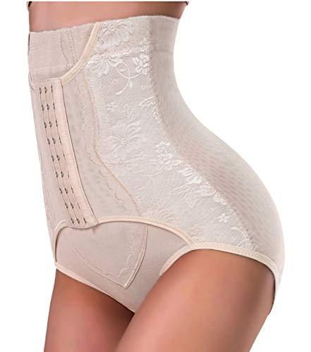 Nebility Women Butt Lifter Shapewear Hi-Waist Tummy Control Body Shaper Shorts Waist Trainer Panty (S, Beige)
