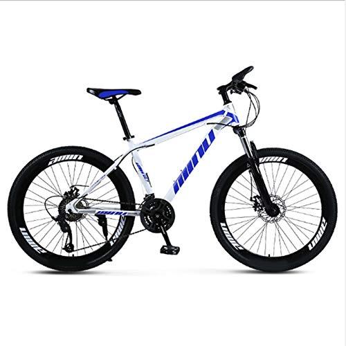 Yunyisujiao Mountain Bike, Bici con Freno A Doppio Disco A 21 velocità da 26 Pollici, Bici Ad Assorbimento degli Urti A velocità Variabile per Adolescenti Adulti (Color : Blue)