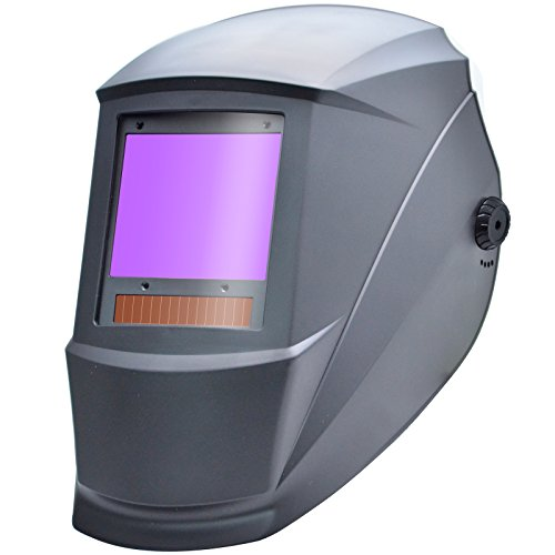 Antra AH7-X90-0000 TOP Optical Class 1/1/1/1 Digital Controlled Solar Powered Auto Darkening Welding Helmet Wide Shade 4/5-9/9-13 With Grinding Feature Extra Lens CoversGreat for TIG, MIG, MMA, Plasma