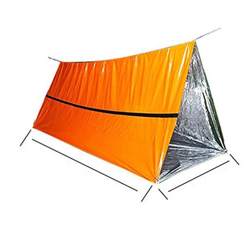 SYG Noodtent Camping Tas, Survival Slaapzak, Warmte, Outdoor Tube Tent, Waterdicht, Lichtgewicht, Hittebestendig, Koudbestendig, Jungle Adventure Camping Emergency PE Aluminium Film Slaapzak