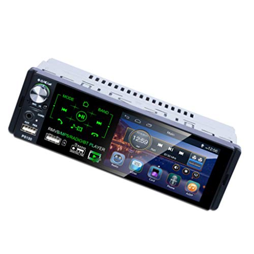 #N/A/a Bluetooth Touch Screen GPS Car Stereo MP5 Player AM Radio FM + Parcheggio Cam - Lettore MP5 + Fotocamera a 8 LED