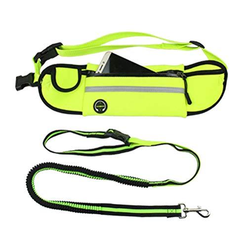 BESPORTBLE Haustier Hundeleine Sport Gürteltasche Gürteltasche Einstellbare Flexible Haustier Hundeleine Tasche zum Laufen Wandern Joggen Wecken