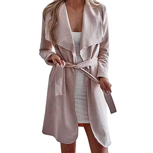 Saoye Fashion Giacca da Donna a Manica Lunga con Bottoni Manica Lunga Giovane Abiti da Festa Elegante Spolverino Giacche Cappotto 2019 Vestiti per Ragazze (Color : Z7-Rosa, Size : XL)