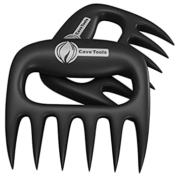 Cave Tools Meat Claws for Shredding Pulled Pork Chicken Turkey and Beef- Handling & Carving Food - Barbecue Grill Accessories for Smoker or Slow Cooker - Gun Metal