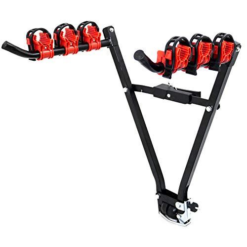 Fahrradträger Fahrradständer Fahrradhalter für Anhängerkupplung Zusammenklappbarer Kupplungsträger für 3 Fahrräder