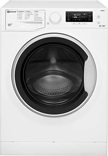 Bauknecht WATK Pure 96L4 DE N Waschtrockner / 9/6kg Waschen/Trocknen/Flecken 40° / Dampf-Programm/ProSilent Motor/Wolle-Programm/Nachlegefunktion/Kurzprogramm 45 Min