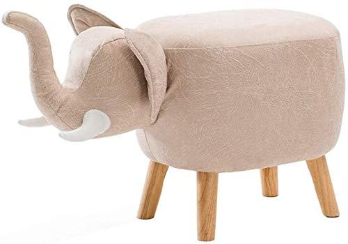 FZWAI Massief houten creatieve olifant krukje schoenen kruk sofa kruk thuis opslag kruk opslag voetbank