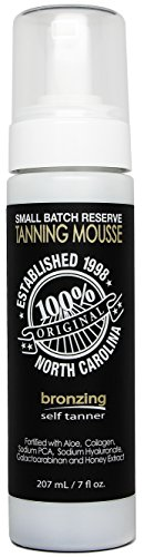 Dark Tanning Mousse w/Instant Bronzer by Famous Dave's | Sunless Self Tanner | Organic & Natural Ingredients for Medium/Darker Skin Tones | Moisturizing Glow with Anti-aging Natural Tan Results