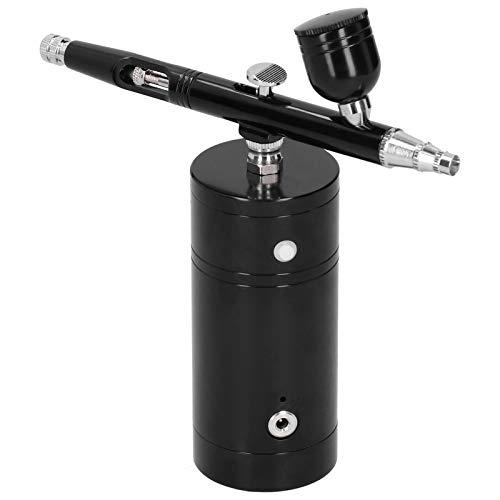 Zerodis Kit de aerógrafo G11 Bomba de acción Simple Recargable de Mano Pulverizador Integrado Juego de aerógrafo inalámbrico de Aluminio para Maquillaje Arte Artesanía Uñas Decoración de Pasteles