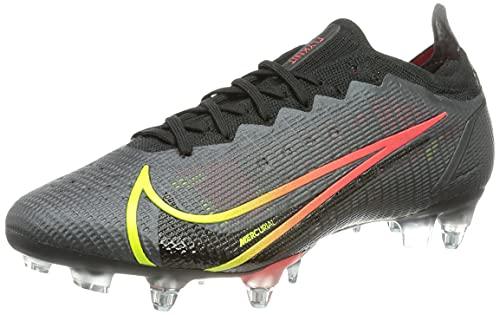 Nike Vapor 14 Elite SG-Pro AC, Chaussure de Football Mixte, Black Cyber Off Noir Rage Green Siren Red, 44 EU