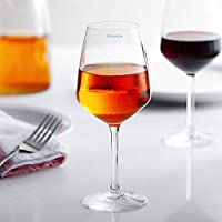 Syanka Wine Glasses Set of 6 Ideal for Red Wine Party Glass, Whisky Glass, Clear, 360 ML