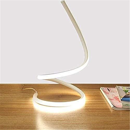 Lámpara De Escritorio En Espiral De Serpiente LED Lámpara De Cabecera De Dormitorio Moderno Espiral Creativo Iluminación De Mesa LED Trabajo De Ojos Estudio De Luz Decoración Sala De Estar Escritorio