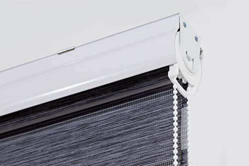 Estoralis VARYS - dubbel rolgordijn met decoratieve cassette, boren duo-rolgordijn met zicht en zonwering voor ramen en deuren