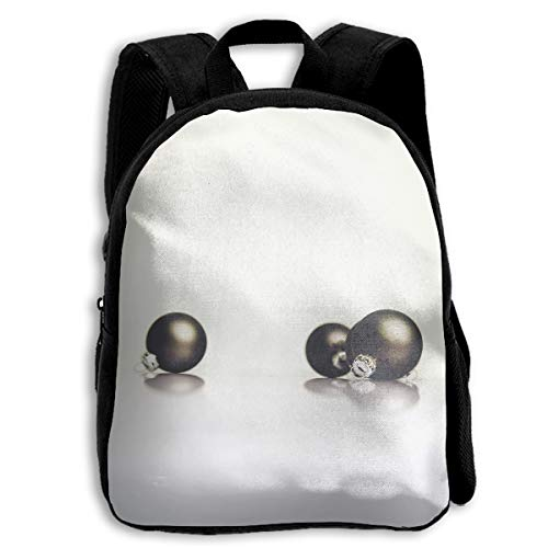 Clear Christmas Round Black Earrings 3D Children Multi-function Mini Bag Pocket Zipper Casual Outdoor Travel Book Middle School Backpack